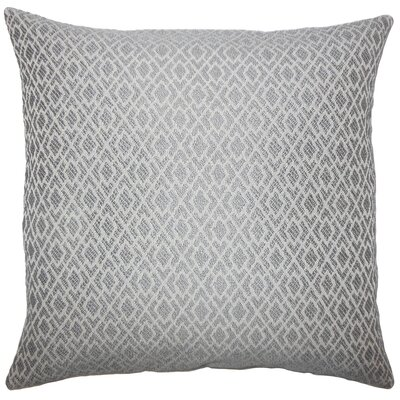 Calanthe Geometric Bedding Sham Size: King, Color: Pewter