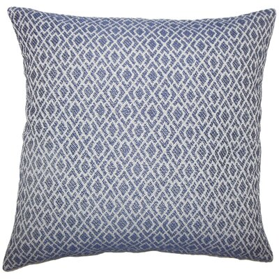 Calanthe Geometric Bedding Sham Size: King, Color: Navy