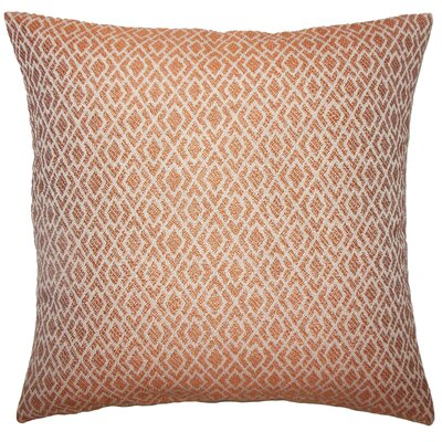 Calanthe Geometric Bedding Sham Size: King, Color: Melon