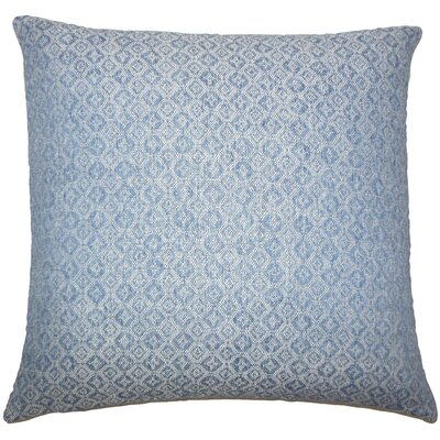 Caitir Geometric Bedding Sham Size: King, Color: Chambray