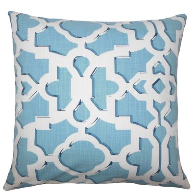 Calixte Geometric Bedding Sham Size: Queen, Color: Sky