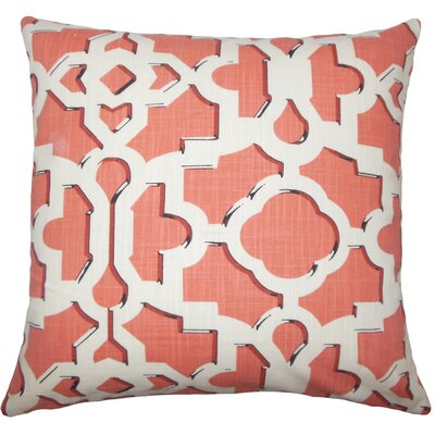 Calixte Geometric Bedding Sham Size: Queen, Color: Sunrise