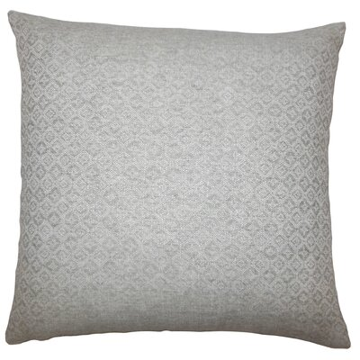 Caitir Geometric Bedding Sham Size: Euro, Color: Gray