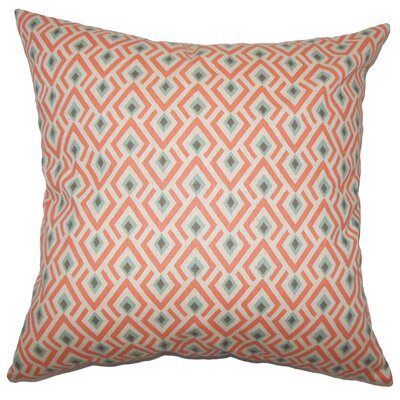 Hardeman Geometric Bedding Sham Size: Queen, Color: Orange