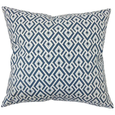 Abhinav Geometric Bedding Sham Color: Navy, Size: King