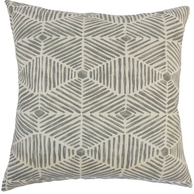 Cais Geometric Bedding Sham Size: Euro, Color: Gray