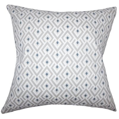 Abhinav Geometric Bedding Sham Size: Queen, Color: Gray