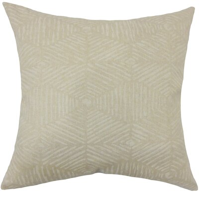 Cais Geometric Bedding Sham Size: King, Color: Cloud