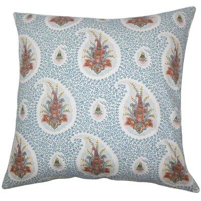 Zaci Floral Bedding Sham Color: Lapis, Size: Standard