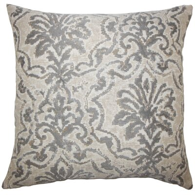 Zain Damask Bedding Sham Size: King, Color: Pewter