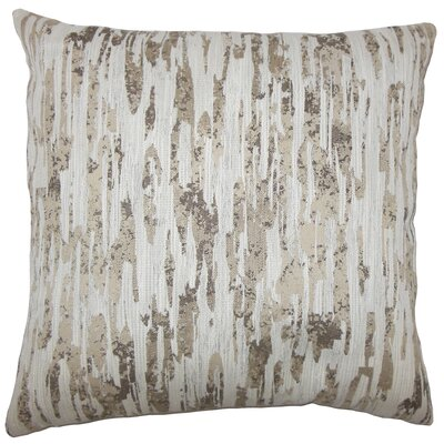 Xanti Graphic Bedding Sham Size: King, Color: Alabaster