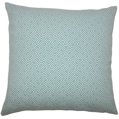 Xiahe Geometric Bedding Sham Size: King, Color: Teal
