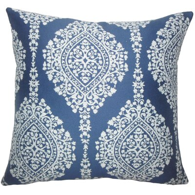 Zanthe Damask Bedding Sham Size: King, Color: Lapis