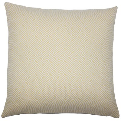 Xiahe Geometric Bedding Sham Color: Sunshine, Size: King