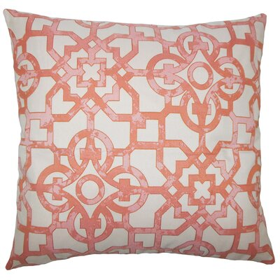 Garrick Geometric Bedding Sham Size: King, Color: Geranium