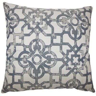Garrick Geometric Bedding Sham Size: Standard, Color: Pewter