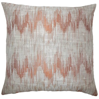 Fleta Ikat Bedding Sham Size: King, Color: Melon