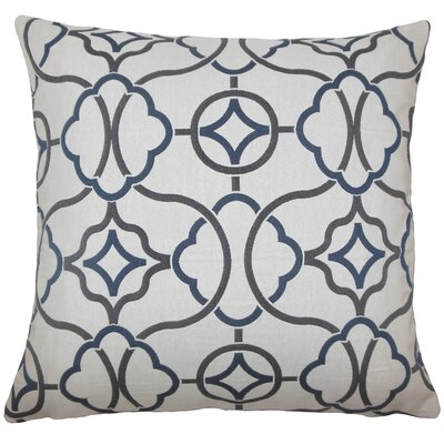 Fearghus Geometric Bedding Sham Size: King, Color: Indigo