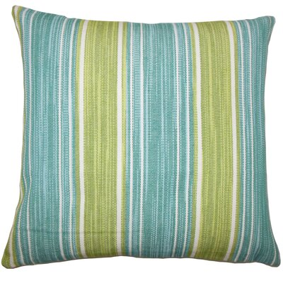 Ferlin Stripe Bedding Sham Size: King, Color: Aqua / Green
