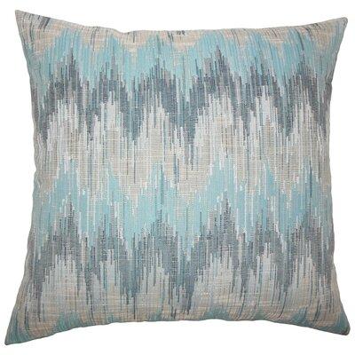 Fleta Ikat Bedding Sham Size: Standard, Color: Teal