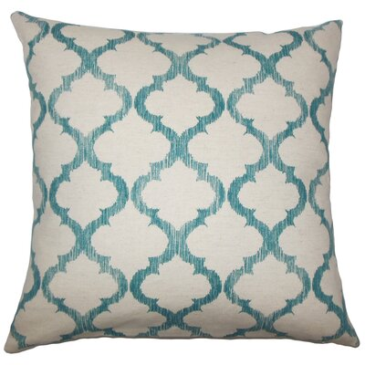 Fortuo Geometric Bedding Sham Size: Queen, Color: Teal
