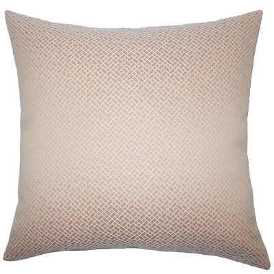 Pertessa Geometric Bedding Sham Size: King, Color: Blush