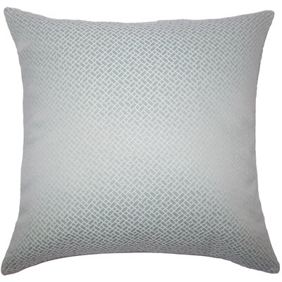 Pertessa Geometric Bedding Sham Size: King, Color: Aqua