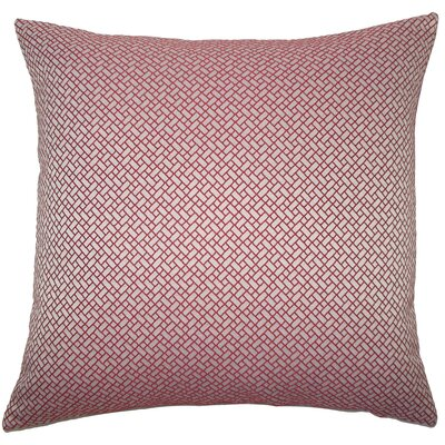Pertessa Geometric Bedding Sham Size: King, Color: Berry