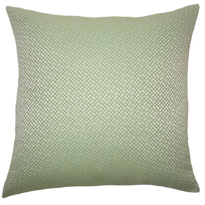 Pertessa Geometric Bedding Sham Size: Queen, Color: Green