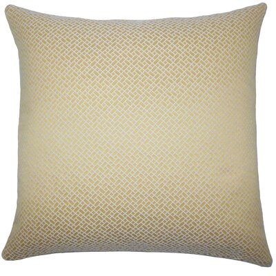 Pertessa Geometric Bedding Sham Size: Euro, Color: Yellow