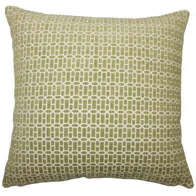Qiao Geometric Throw Pillow Cover Size: 18 x 18, Color: Kiwi
