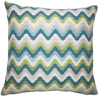 Oya Zigzag Bedding Sham Size: Queen, Color: Aqua Green