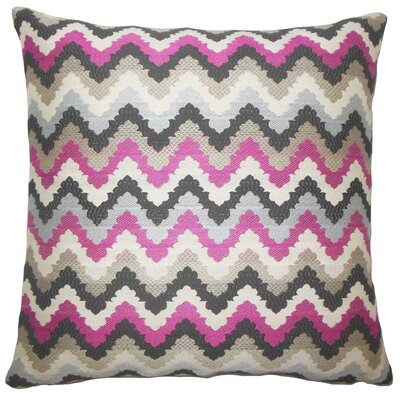 Oya Zigzag Bedding Sham Size: King, Color: Stone