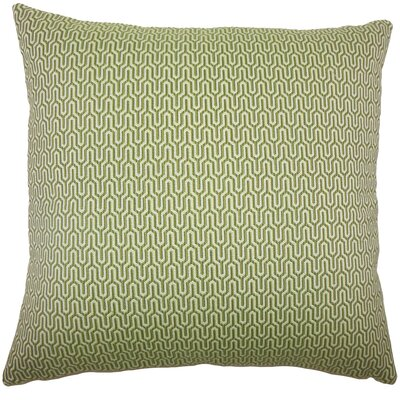 Pandora Geometric Bedding Sham Size: King, Color: Jungle