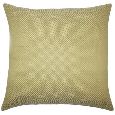 Pertessa Geometric Bedding Sham Size: Euro, Color: Peridot