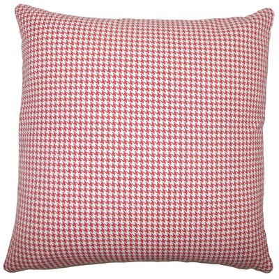 Occhave Houndstooth Bedding Sham Size: King, Color: Red