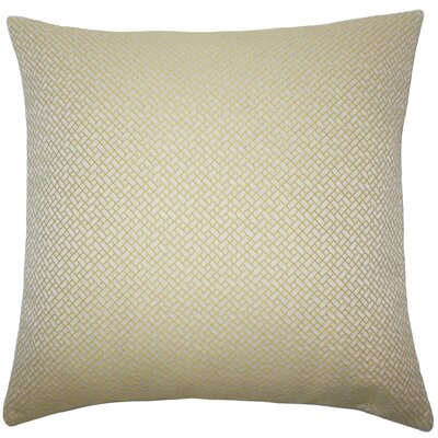 Pertessa Geometric Bedding Sham Size: King, Color: Butter Cup