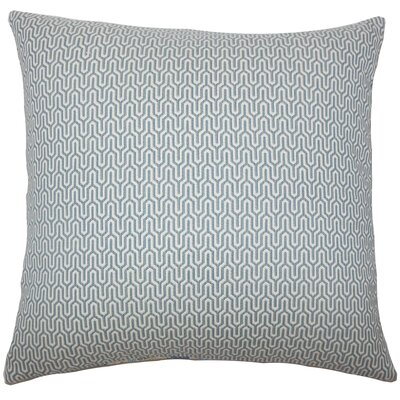 Pandora Geometric Bedding Sham Size: King, Color: SKy