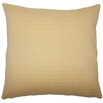 Pandora Geometric Bedding Sham Size: King, Color: Sunshine