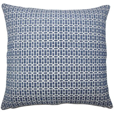 Qiao Geometric Throw Pillow Cover Size: 18 x 18, Color: Lapis