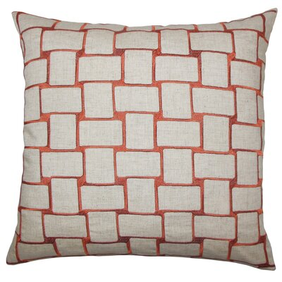 Haig Geometric Bedding Sham Size: King, Color: Persimmon