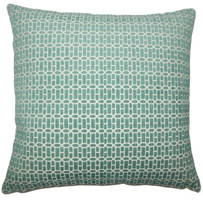 Qiao Geometric Throw Pillow Cover Size: 18 x 18, Color: Turquoise