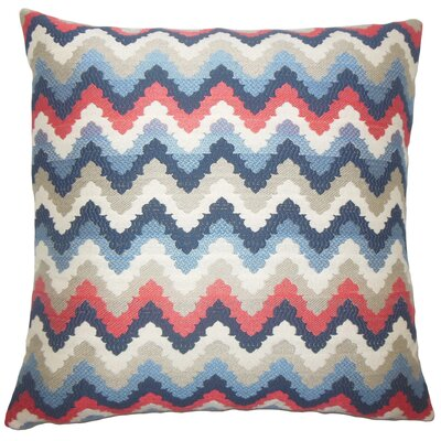 Oya Zigzag Bedding Sham Size: King, Color: Blue