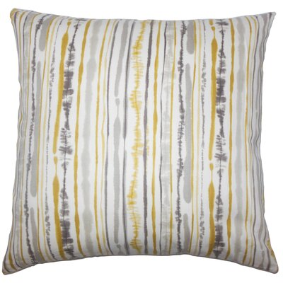 Jumoke Striped Cotton Throw Pillow Cover Color: Yellow