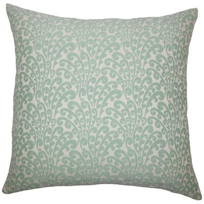 Ilkay Floral Bedding Sham Size: King, Color: Aqua