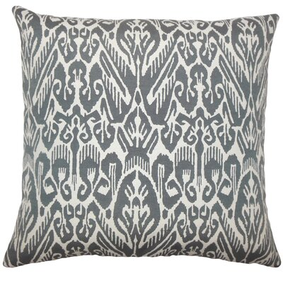 Jyotika Ikat Bedding Sham Size: King, Color: Ash