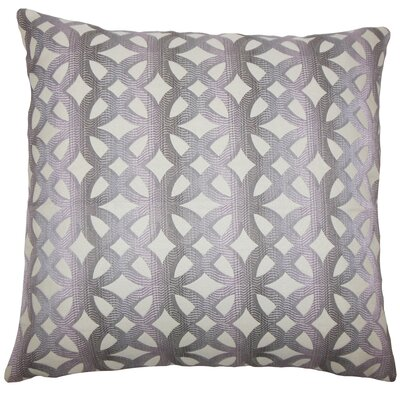 Heulwen Geometric Bedding Sham Size: Queen, Color: Lilac