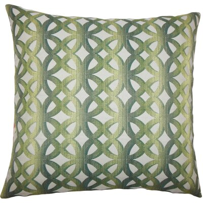 Heulwen Geometric Bedding Sham Size: Queen, Color: Jade