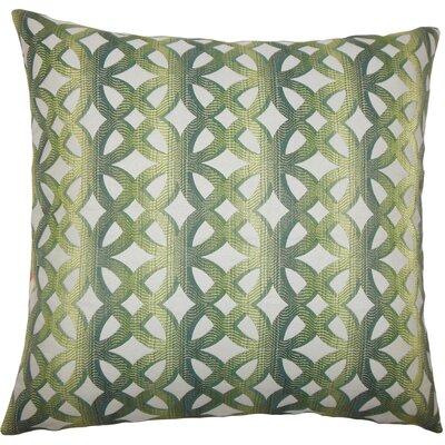 Heulwen Geometric Bedding Sham Size: Euro, Color: Jade