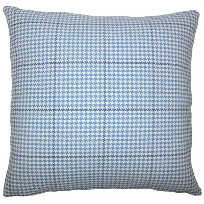 Jariah Houndstooth Bedding Sham Size: Euro, Color: Blue